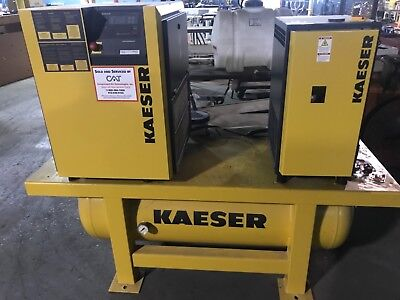 Kaeser SM11 Rotary Compressor with Tank and Dryer 10 HP