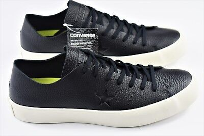 Converse One Star Prime Ox Prime Mens Size 10 Black Leather Low Shoes 154838C
