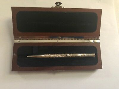 Yard O Led Perfecta Ballpoint Pen, Victorian Finish Sterling Silver