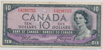 Bank Of Canada Devils Face 10 Dollars 1954 Fd4296755 - F