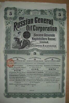 Russland:  Russian General Oil Corporation 1913