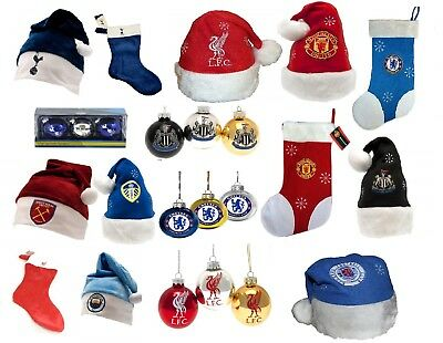 CHRISTMAS Football (Xmas) Selection - Baubles / Hats / Stockings/ Sacks