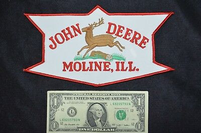 John Deere Moline IL Giant Embroidered Patch Brand New