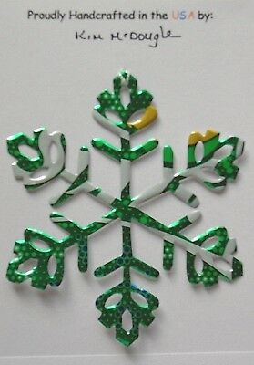 Snowflake Christmas Ornament Handmade Recycled Aluminum Lemon Lime Soda Pop Can