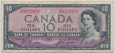 Bank Of Canada Devils Face 10 Dollars 1954 Ed9372978 - F