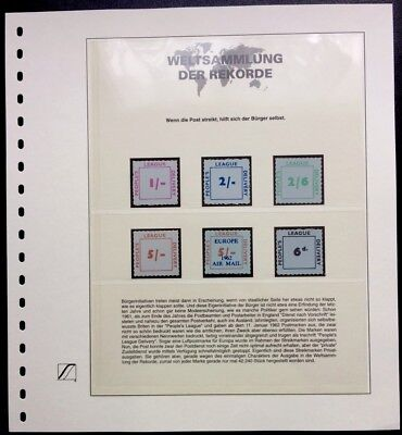 GB UK 1962 People´s League strike stamps only 42.240 Weltsammlung der Rekorde **