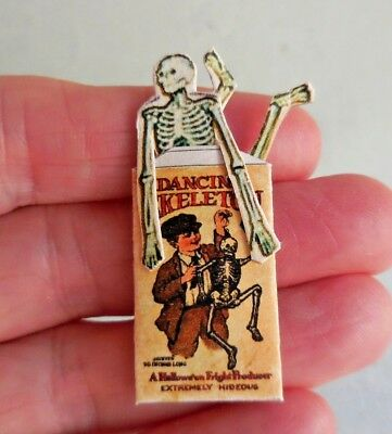 Dollhouse Miniature ~ Halloween ~ Dancing Skeleton