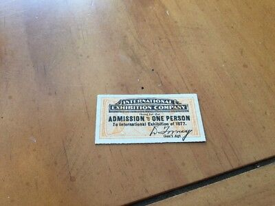 Philadelphia International Exhibition 1876/77 Ticket