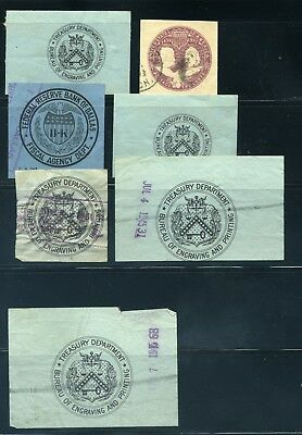 USA - Stamped Paper, Cut Square - Treasury, Engraving and Bank of Dallas