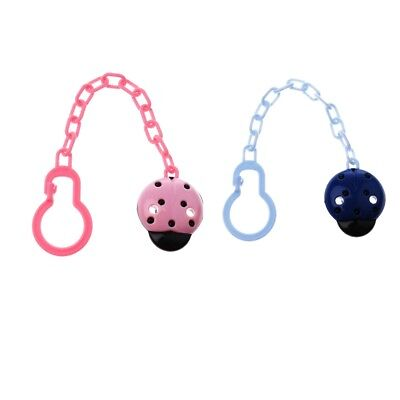 2PCS Toddler Baby Pacifier Dummy Clip Holder Chain Plastic Clip
