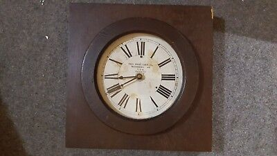 Arts and Crafts style wall clock Fred Frick Co