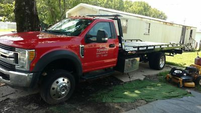 2017 Ford f550 v10 gas 4x2 roll back loaded