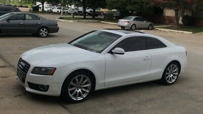 2011 Audi A5 Limited 2011 White Audi A5 2.0T Quattro Premium AWD Sport Coupe Loaded