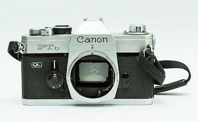 Canon FTB-QL 35mm SLR film camera, body only - great working condition