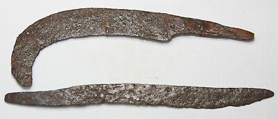 Ancient Viking IRON sickle and knife