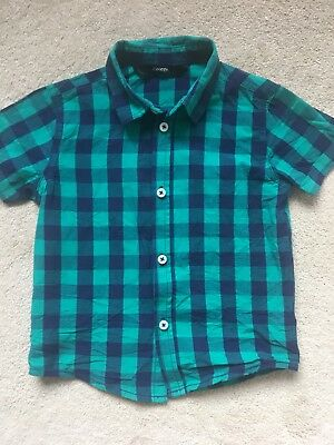 Baby Boys George Check Shirt Green/blue Age 1 1/2 To 2 Years