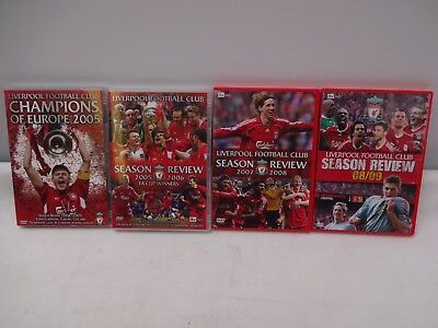 4 Liverpool Footbal Club Season Reviews 2004 - 2009 Dvd's.