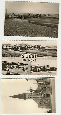 Lot de trois cartes postales semi-modernes de SAINT-JUST-MALMONT