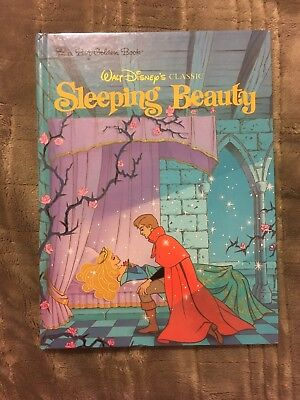 Vintage Walt Disney's Classic Sleeping Beauty Big Golden Book 1986 EUC