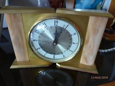 "RARE RETRO 1970s ""SMITHS INDUSTRIES"" BATTERY CLOCK -BULOVA TUNING FORK MOVEMENT"
