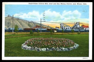 Oklahoma Postcard: Eagle Pitcher Lead And Zinc Mining Near Miami, Ok