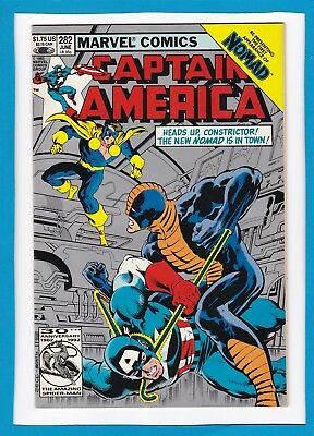 """Captain America #282_June 1983_Vf+_Constrictor_""""the New Nomad Is In Town""""!"""