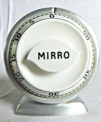 VINTAGE 1950's MIRRO ALUMINUM KITCHEN COOKING TIMER LUX TIME
