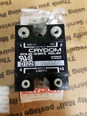 Crydom D1225-10 Solid State Relay ac dc scr electrical hvac brand new 120vac 25A
