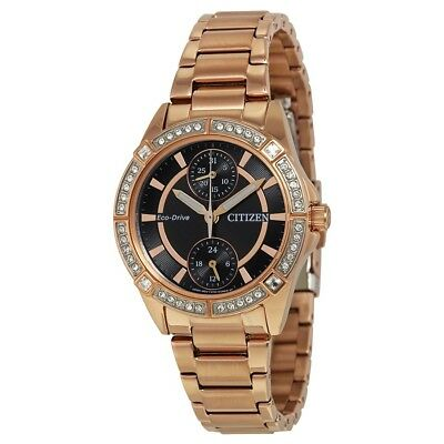 Citizen Women's Eco-Drive POV Swarovski Crystals Rose Gold Watch FD3003-58E