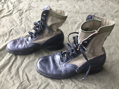 US Vietnam Early 2nd Pattern RO-SEARCH Jungle Boots Size 10 R