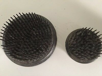 Lot of 2 Vintage Metal Flower Arranging Frog Spikes.  COOL
