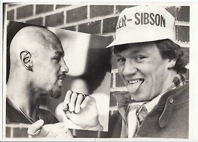 Vintage Boxing Press Photo; Peter Sibson Promo For Marvin Hagler Fight, 10x7""