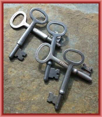 Five Assorted Antique Yale & Towne Antique Mortise Lock Skeleton Keys