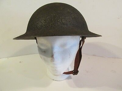 WW I Dough boy helmet with liner and chin strap