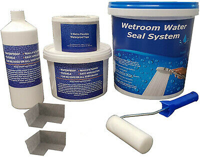Tanking Kit for Sealing Wetrooms, Bathrooms, Waterproof Kit different sizes WSK