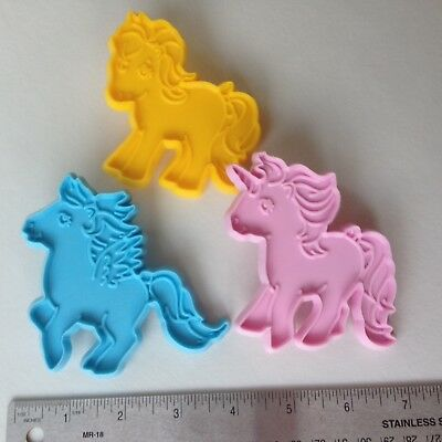 Vintage 1985 My Little Pony Cookie Cutters Set Of 3 ARC Hasbro Bradley MLP horse