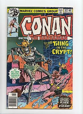 Conan the Barbarian #92 (Marvel 1978) VF/NM 9.0
