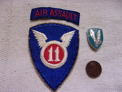 US Army 11th Air Assault Division Patch and DI [Unit Crest]--Early 1960s