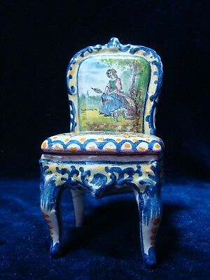 An Antique Painted French 'rouen' 'model Chair', Damaged.