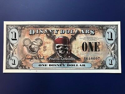 2011 Disney Dollar - $1 - PIRATES OF THE CARIBBEAN - On Stranger Tides - RARE!