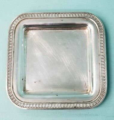 Estate 925 Sterling Silver Judaica Tray 70.4g [SC688]