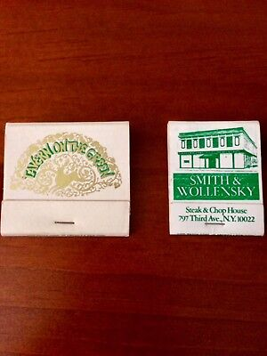 Vintage Tavern on the Green Matchbook w. Placecard + Smith & Wollensky Matchbook