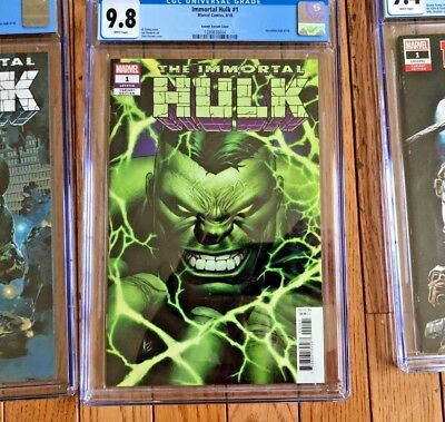 Immortal Hulk #1 CGC 9.8 Dale Keown Variant Marvel Incentive 1:50 1/1 SOLD OUT !