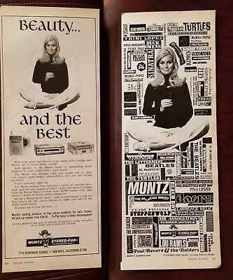 1960's MUNTZ STEREO-PAK 2 page Advertisement Beauty & the best Ad