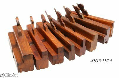 good shape antique wood wooden COMPLEX MOLDING PLANE TOOL LOT woodworking NY OH