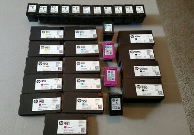 LOT OF 30 EMPTY HP NEVER REFILLED Printer Ink Cartridges Black/Color-Free Ship!!