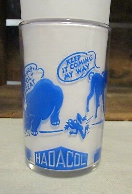 Vintage Hadacol Advertising Swanky Swig Friday Blue Lettering Cute Animals Rare
