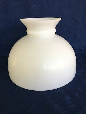 "Antique White Milk Glass 9 3/4"" Student/table/kerosene Lamp Shade"