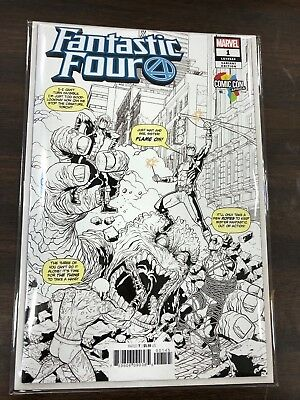Fantastic Four #1 Black and White Comic Con Africa Variant
