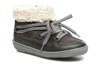 New Clarks Girls Maxi Moon First Grey Boots Size UK 6 -7 1/2 F,G